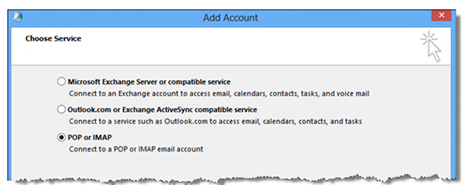 Windows Outlook 2013 add account 3 screenshot